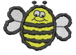 Cartoon Bee embroidery design