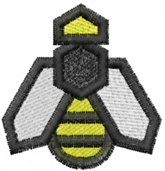 Geometric Bee embroidery design