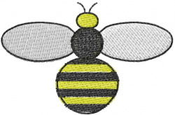 Circle Bee embroidery design