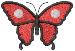 Butterfly 3 Domino Spot embroidery design