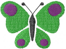 Butterfly 5 Simple Spots embroidery design