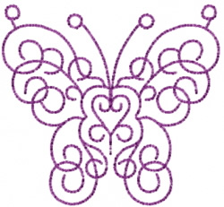 Butterfly 7 Scrollwork embroidery design