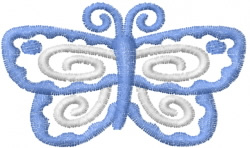 Butterfly 10 Tinsel Winged embroidery design