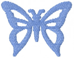 Butterfly 14 Blue Damsel embroidery design