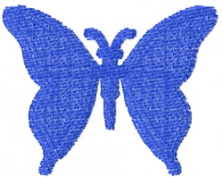 Butterfly 25 Blue Silhouette embroidery design