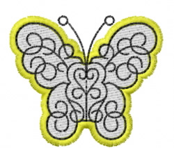 Butterfly 30 Iron Butterfly embroidery design