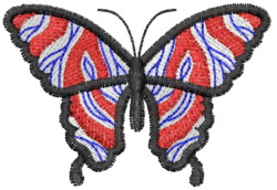 Butterfly 31 Marble embroidery design