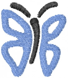 Butterfly 33 Blue Winged embroidery design