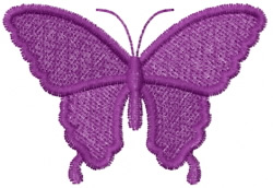 Butterfly 39 Burgundy Silhouette embroidery design