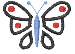 Butterfly 40 Black To Blue embroidery design
