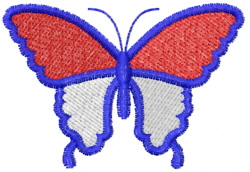 Butterfly 41 Red, White N Blue embroidery design
