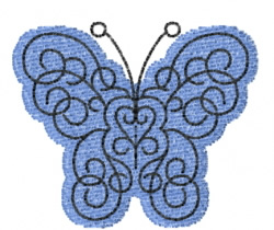 Butterfly 45 Blue Danube embroidery design