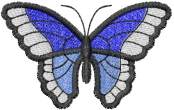 Butterfly 46 Blue Meanie embroidery design