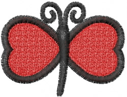 Butterfly 48 Red Heart embroidery design