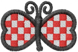 Butterfly 50 Picnic embroidery design