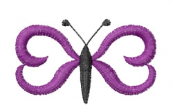 Butterfly 51 Grape Calligraphy embroidery design