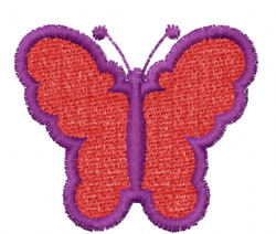 Butterfly 53 Raspberry embroidery design