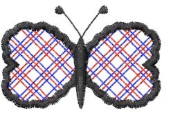 Butterfly 57 Open Plaid embroidery design
