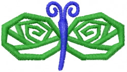 Butterfly 58 Green Graphic embroidery design