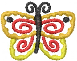 Butterfly 60 Fiesta embroidery design