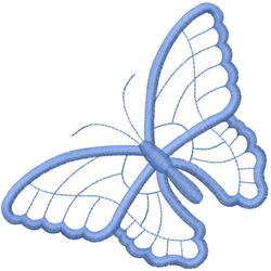 ONE LARGE BUTTERFLY OUTLINE embroidery design