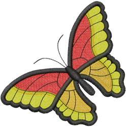 ONE LARGE BUTTERFLY embroidery design