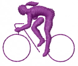 Bicycler embroidery design