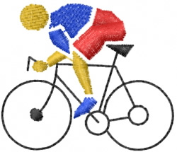 Biker embroidery design