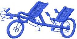 Recumbent Tandem Bike embroidery design