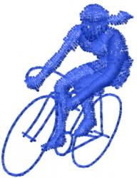 Woman Bike Rider embroidery design