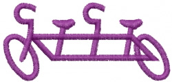 Tandem Graphic embroidery design