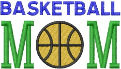 BASKETBALL MOM 3 embroidery design