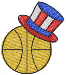 Basketball 28 embroidery design
