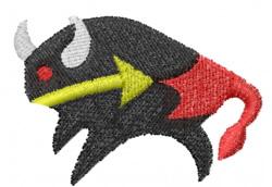 Pueblo Bull embroidery design