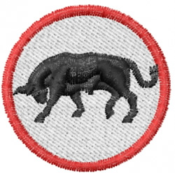 Bull in Circle embroidery design