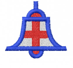 Bell Cross embroidery design