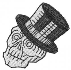 Skull 1 embroidery design