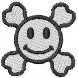 Skull 2 Smiley Skull embroidery design