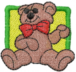 Christmas Bear Square embroidery design