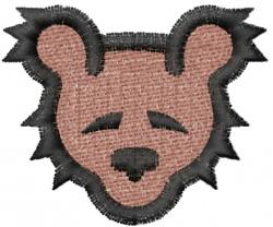 Teddy Bear Head embroidery design