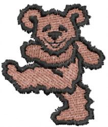 Walking Teddy Bear embroidery design