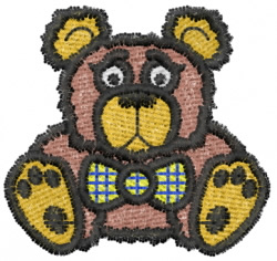 Teddy With Bow Tie embroidery design