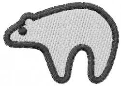 Pueblo Polar bear embroidery design