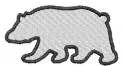 Polar Bear Silhouette embroidery design