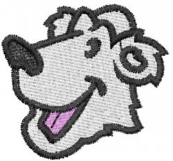 Happy Polar Bear embroidery design