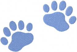 BEAR PAW 2 – TWO TRACKS embroidery design