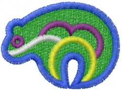 Pueblo Bear embroidery design