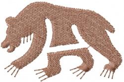 Petroglyph Bear embroidery design