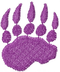 Bear Paw Petroglyph embroidery design