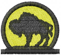 Buffalo Moon embroidery design